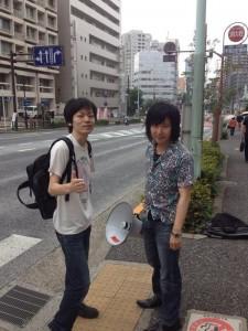りべるたんの兄貴 山口祐二郎さんも戸塚署前へ