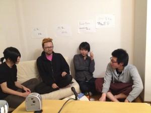 渋家の齋藤さん・としくにさん、ファクトリー京都の松山君を招いての座談会。